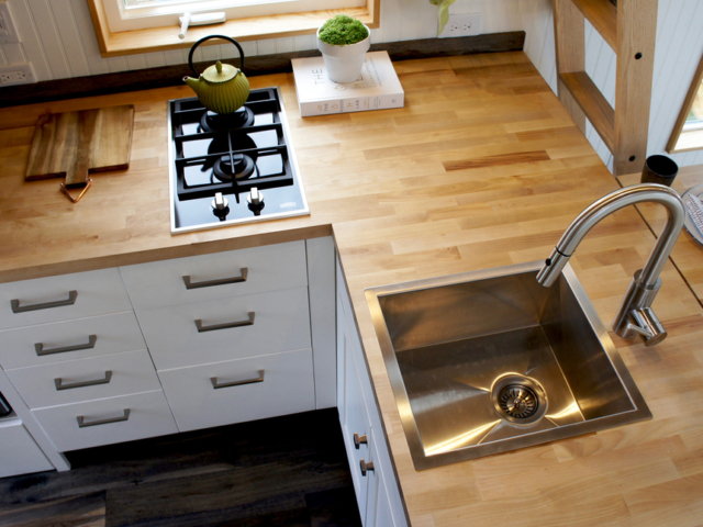 tiny kitchen ideas wodden countertop small space in oregon