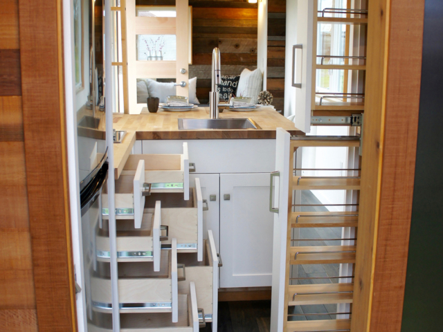 custom tiny house design pantry ideas