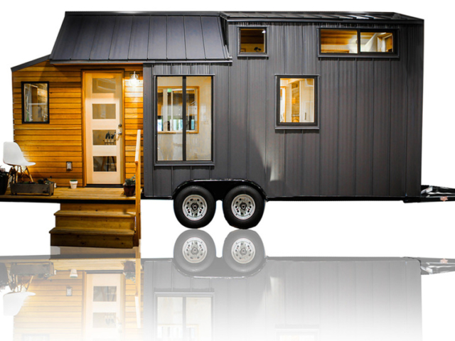 tiny house design with wheels and trailer