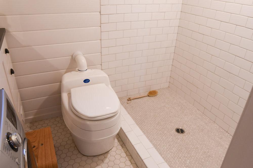 Separett composting toilet tiny bathroom minimalist