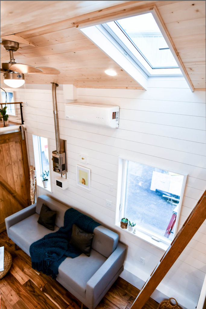 high ceiling tiny home oregon payette urban