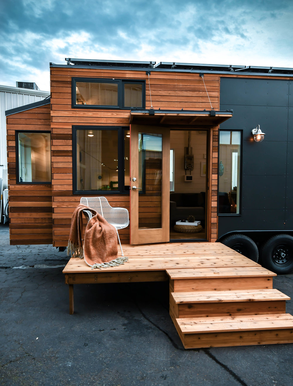 tiny home wooden exterior in oregon
