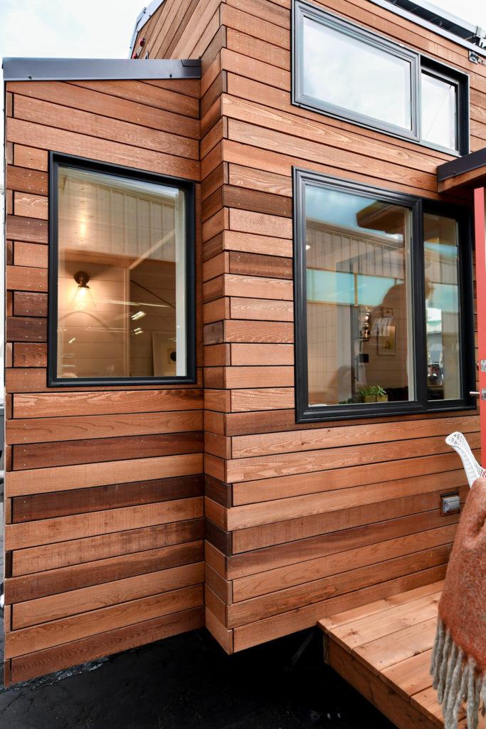 wooden exterior small house oregon
