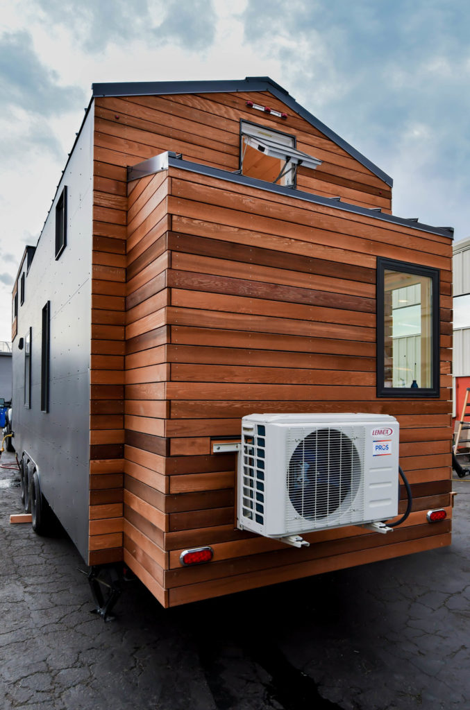 tiny home exterior with bump out