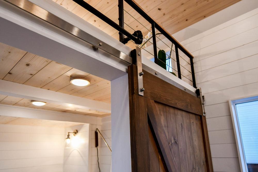 tiny home door idea sliding door