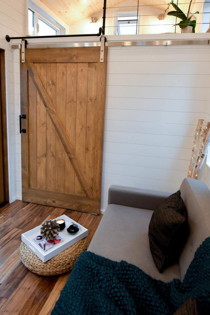 Payette Urban tiny home design oregon sliding door idea