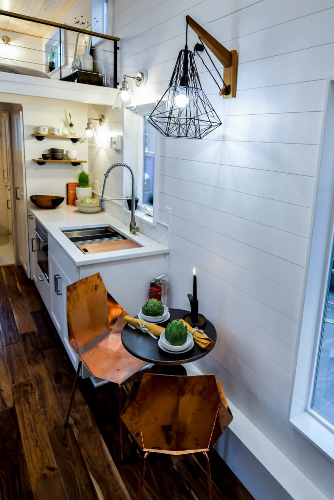 small kitchen tiny house manufactuer in oregon