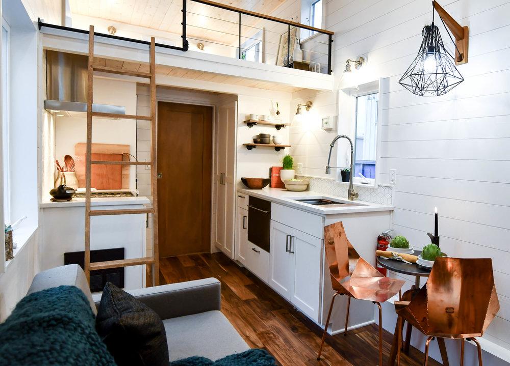 bedroom nook and ladder