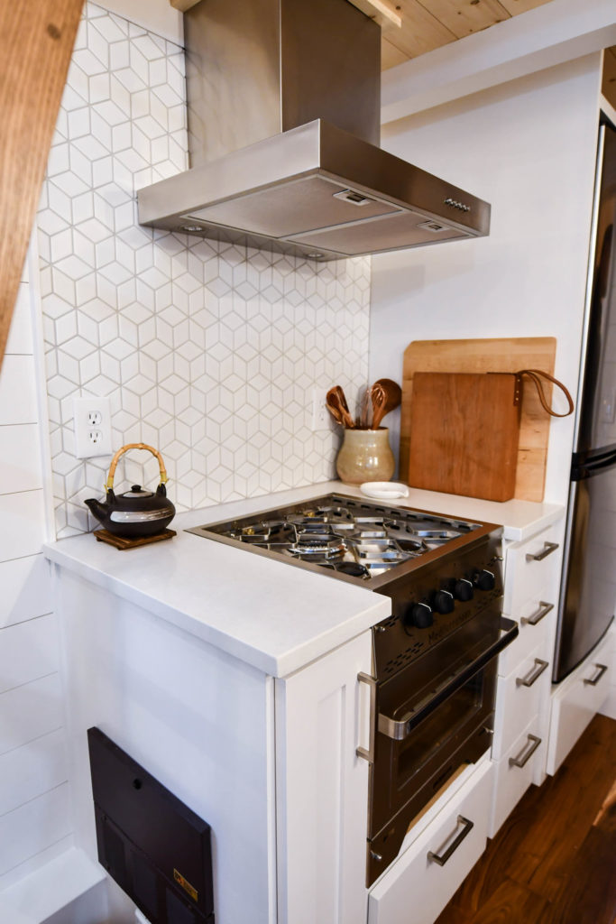 tiny house kitchen design stove