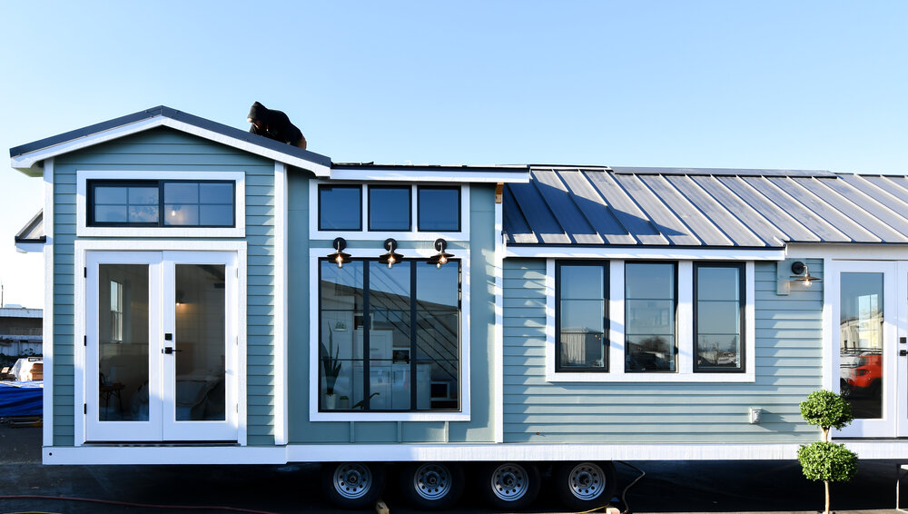 tiny house exterior in oregon