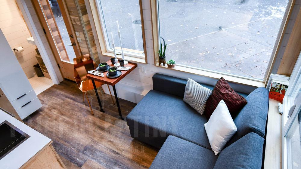 L-type sofa tiny home