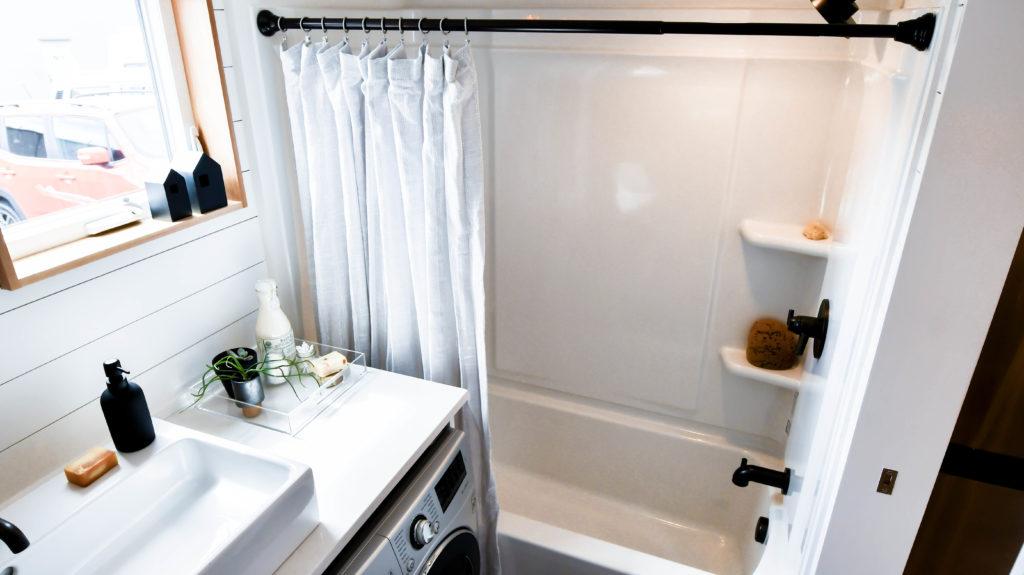 tiny home bathroom w/ tub