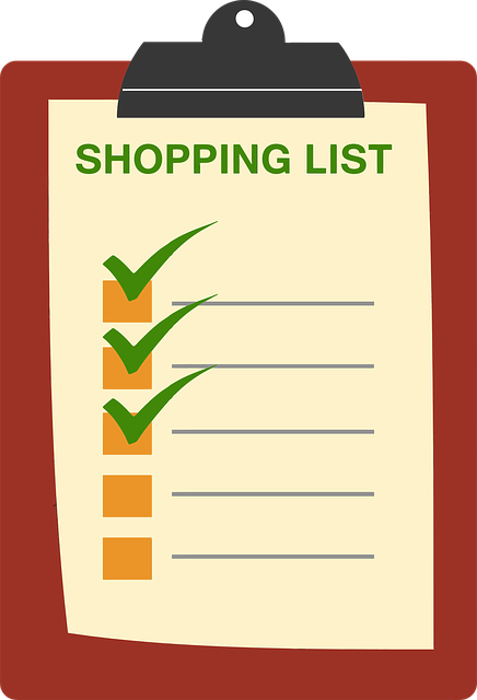 plan your grocery shopping list