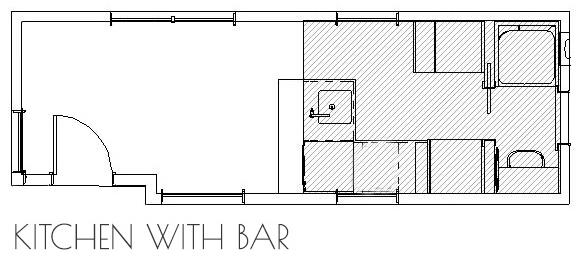 tiny home kitchen floor plan